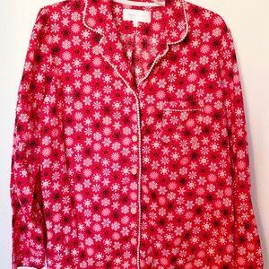 Victoria's Secret Red Snowflake Pajamas 2 Piece